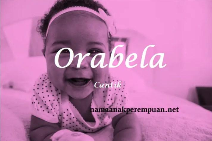arti nama Orabela