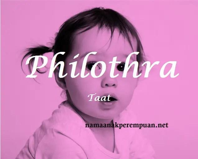 arti nama Philothra