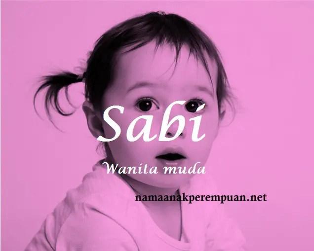 arti nama Sabi