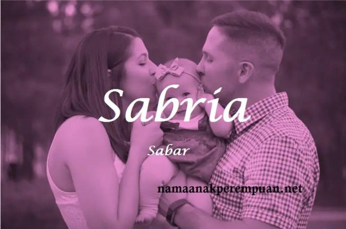 arti nama Sabria