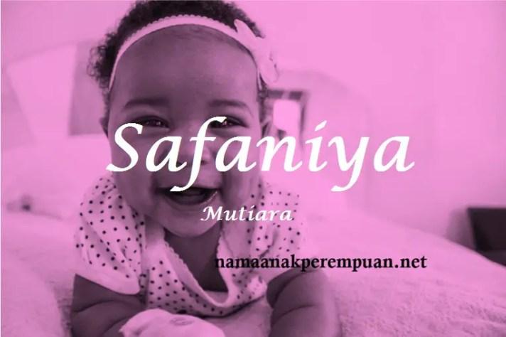 arti nama Safaniya