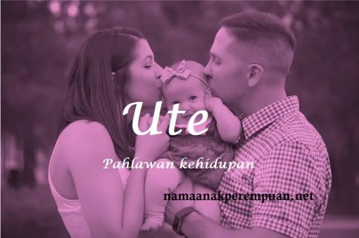 arti nama Ute