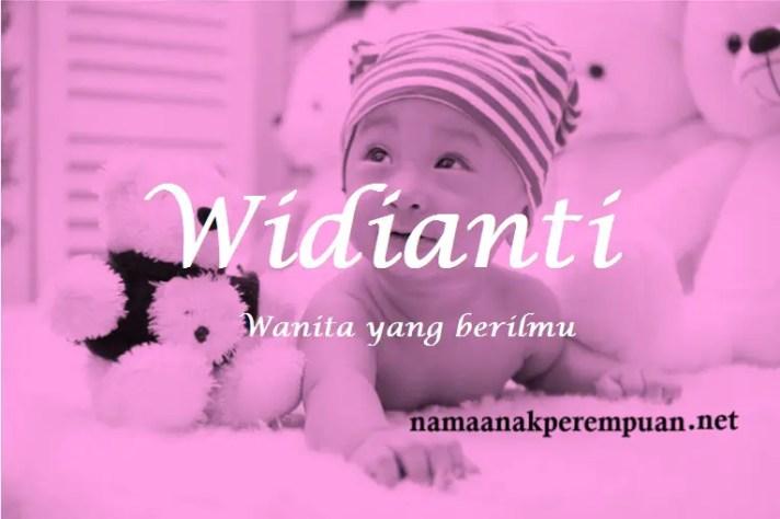 arti nama Widianti