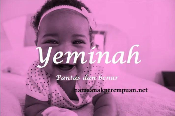 arti nama Yeminah