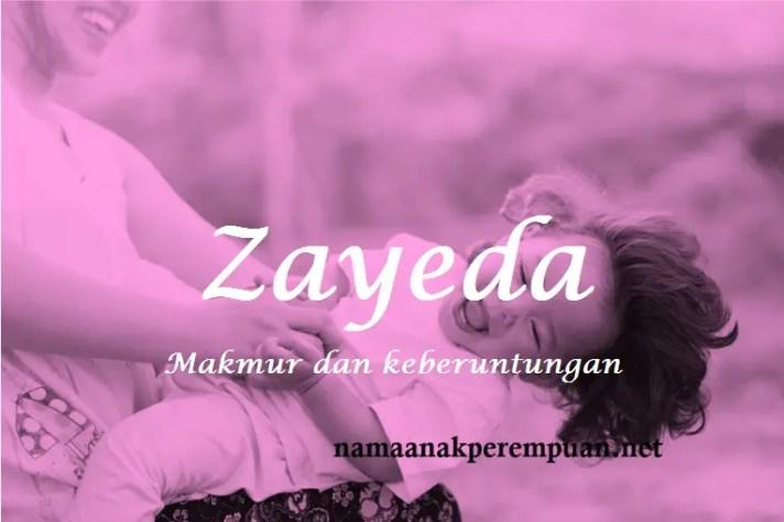 arti nama Zayeda