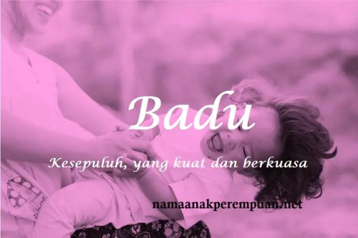 arti nama Badu