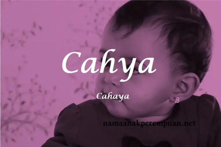 arti nama Cahya