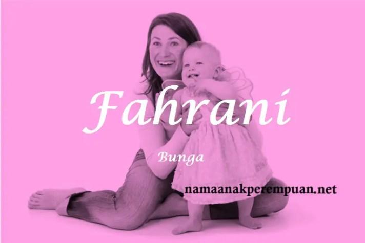 arti nama Fahrani