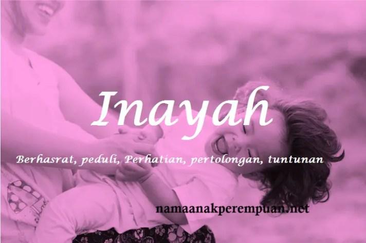 arti nama Inayah