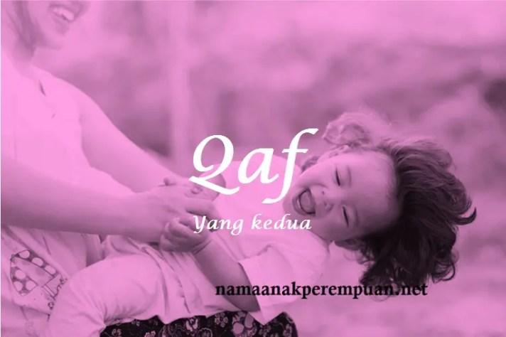 arti nama Qaf