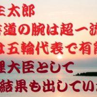 麻生太郎の書道は一流?実はかなり有能で五輪にも出場した天才
