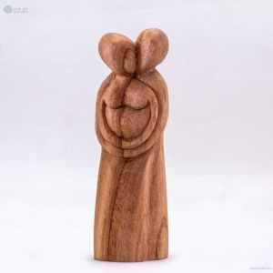 NA-a-warm-hug-wooden-handmade-abstract-sculpture-gift-art-home-decor-figurine-family-collection