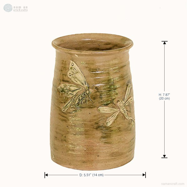 NA-noon-dream-cylindrical-embossed-vase-with-couple-dragonflies-pattern-made-by-artist-pham-anh-dao