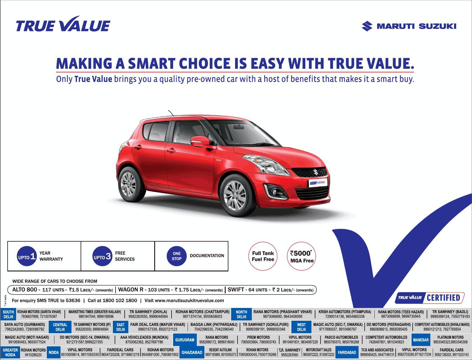 get quality pre owned car from maruti suzuki true value namaste car. Black Bedroom Furniture Sets. Home Design Ideas