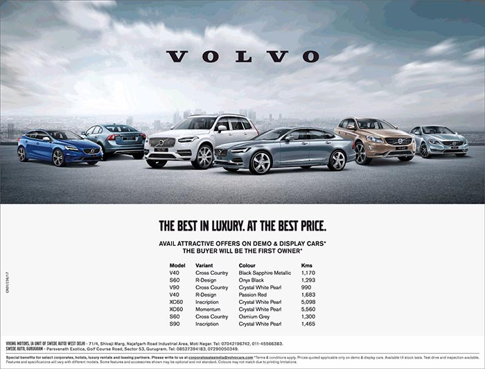 Buyer Will Be The First Owner Of These Volvo Demo Display Cars