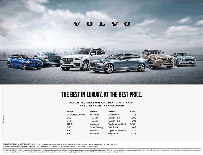 Demo Volvo V40, S60, XC60, S60 and S90 models on sale - Namaste Car