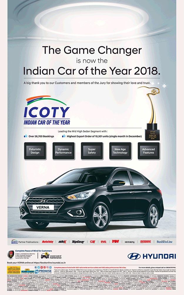 Hyundai Verna Is Indian Car Of The Year 2018 Namaste Car