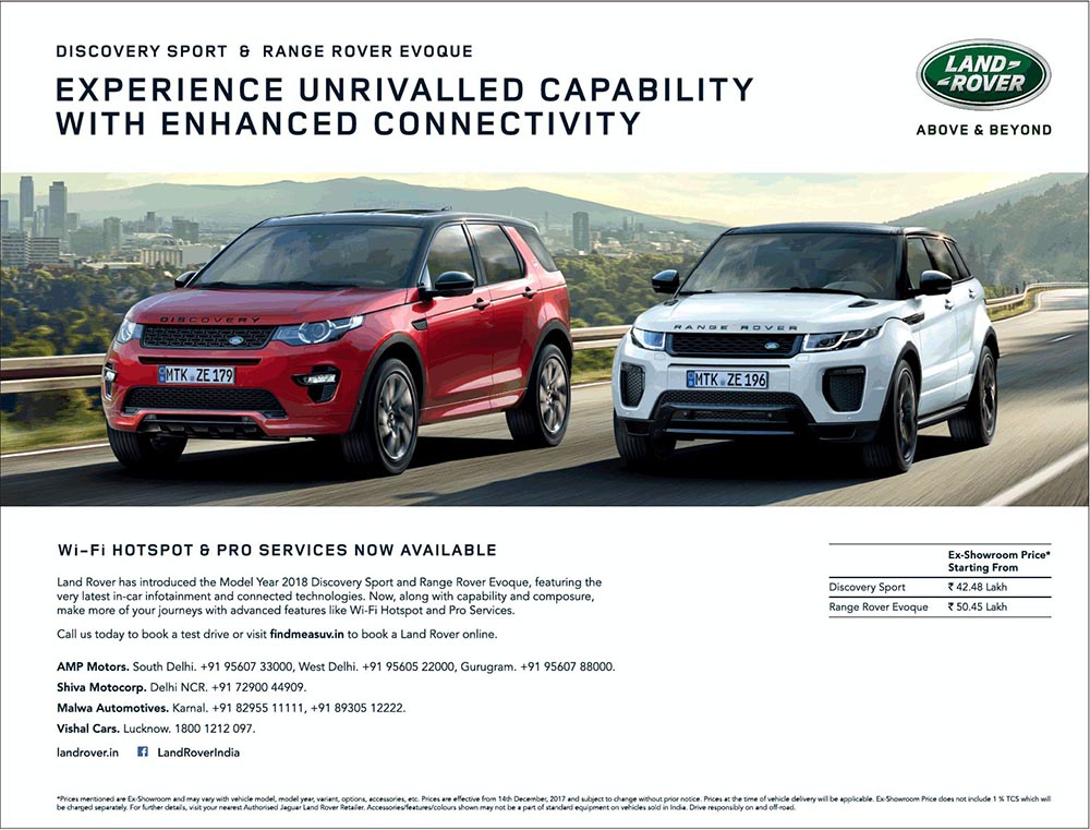 Land Rover Discovery Sport Amp Evoque Now With Wi Fi Hotspot