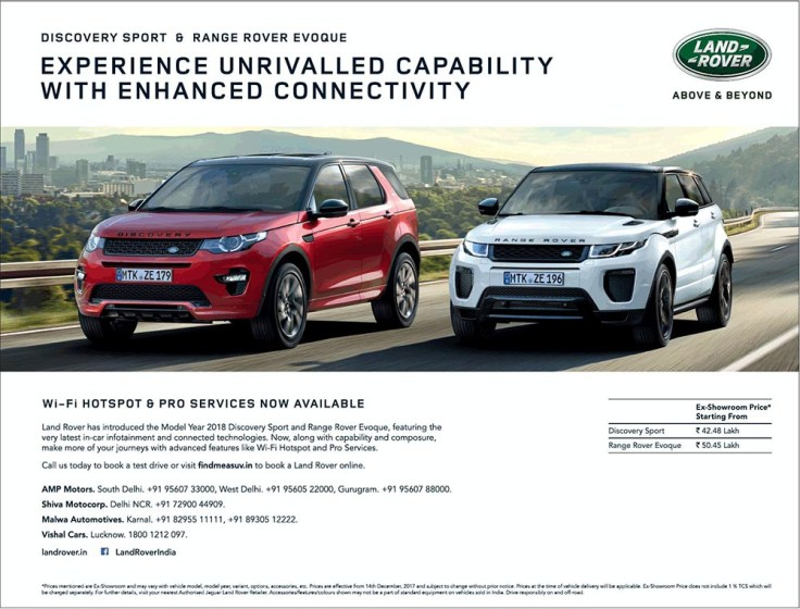 Land Rover Discovery Sport Evoque Now With Wi Fi Hotspot And Pro