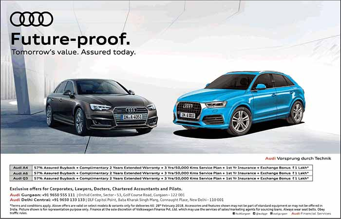 Assured Buy Back With Complimentary Warranty On Audi A A Q - Audi extended warranty