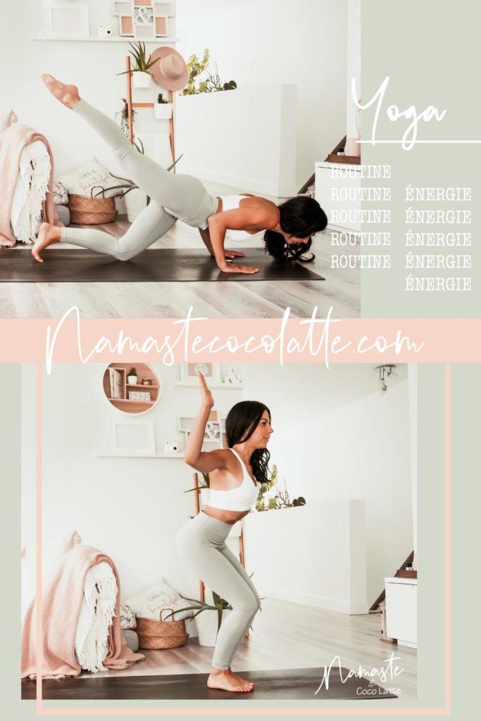 Routine de yoga énergisante pour créer de l'espace | Namasté & Coco Latté