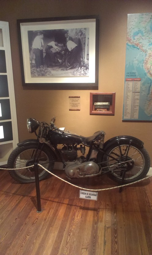 Motorbike used in his second journal