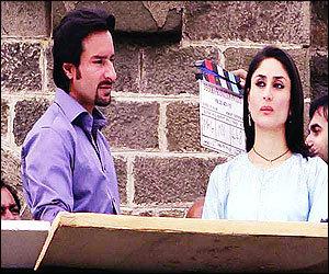 Kareena y Saif en las grabaciones de Kurbaan!!!