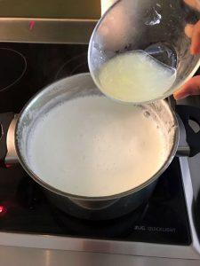 Making paneer - Step 7