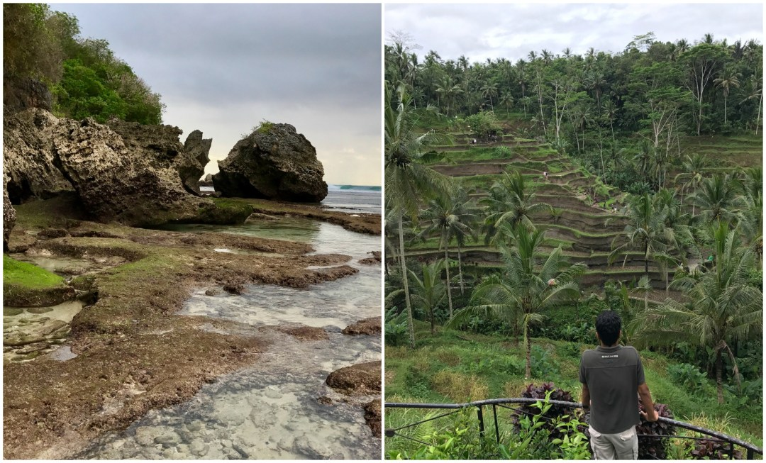 Indonesia Beaches and rice fields