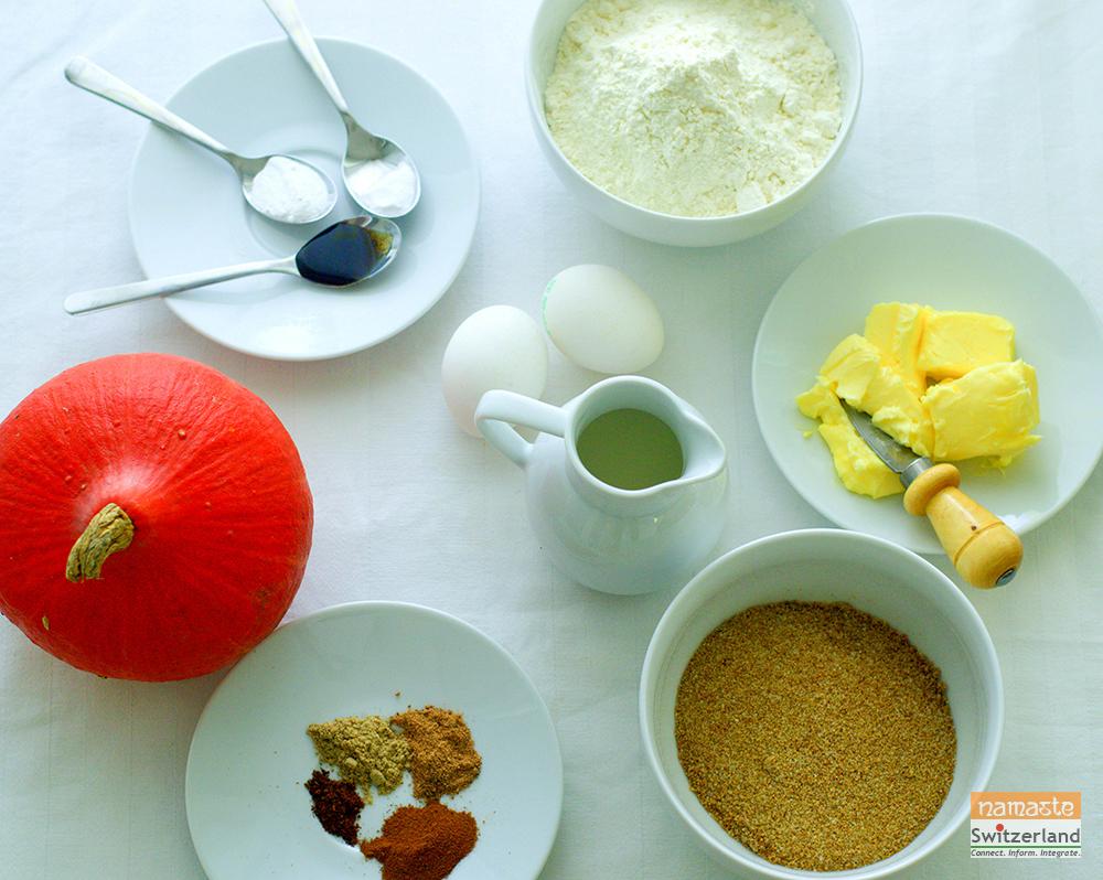 Pumpkin cupcakes ingredients