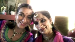 Photo of Annjali with Sharmila Sharma