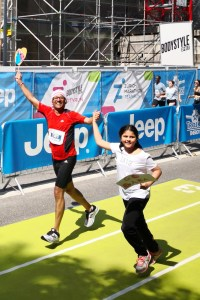 Indranil and Megha at the Zuich Marathon