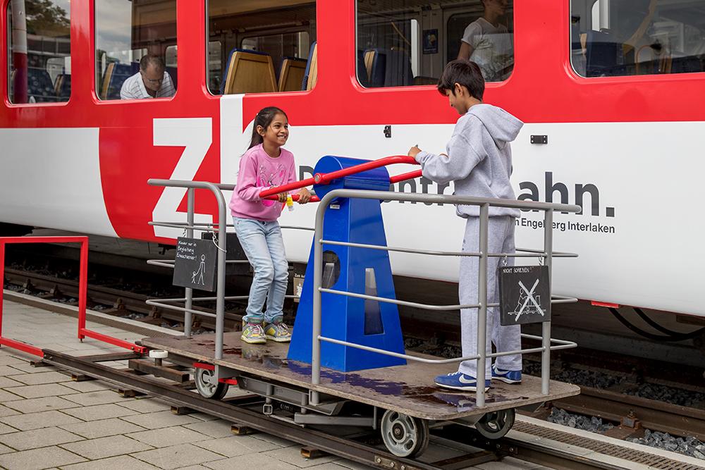 Interactive displays at the Rail Transport Pavillion
