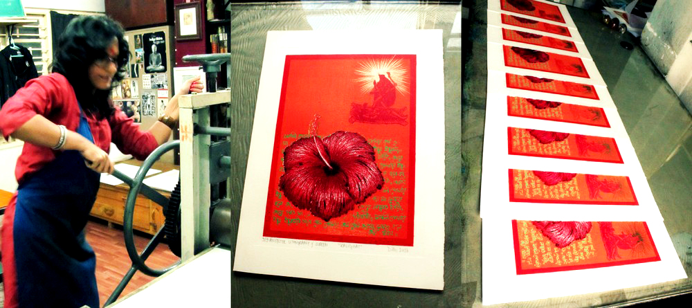 Printmaking by Dithi Mukherjee