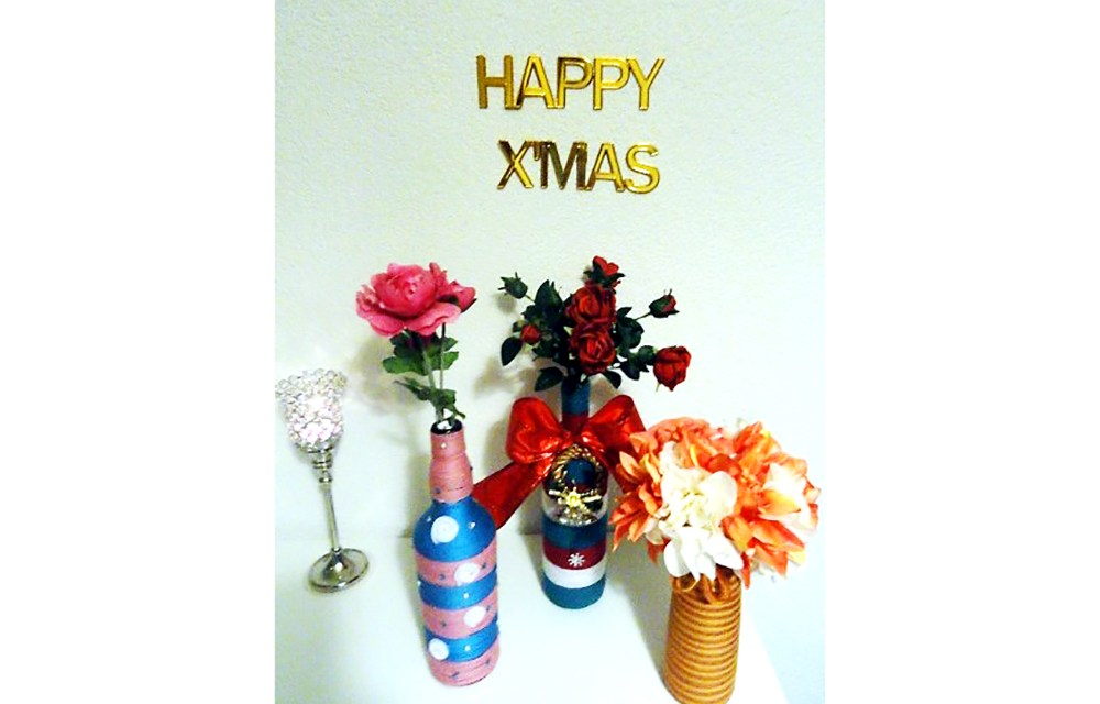 Christmas Craft: A wooly vase