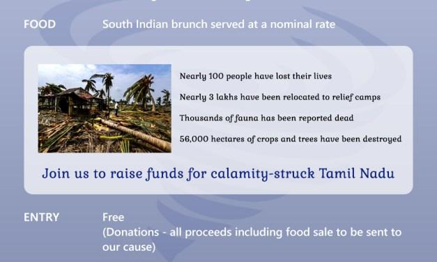 Fundraising for Cyclone Gaja victims
