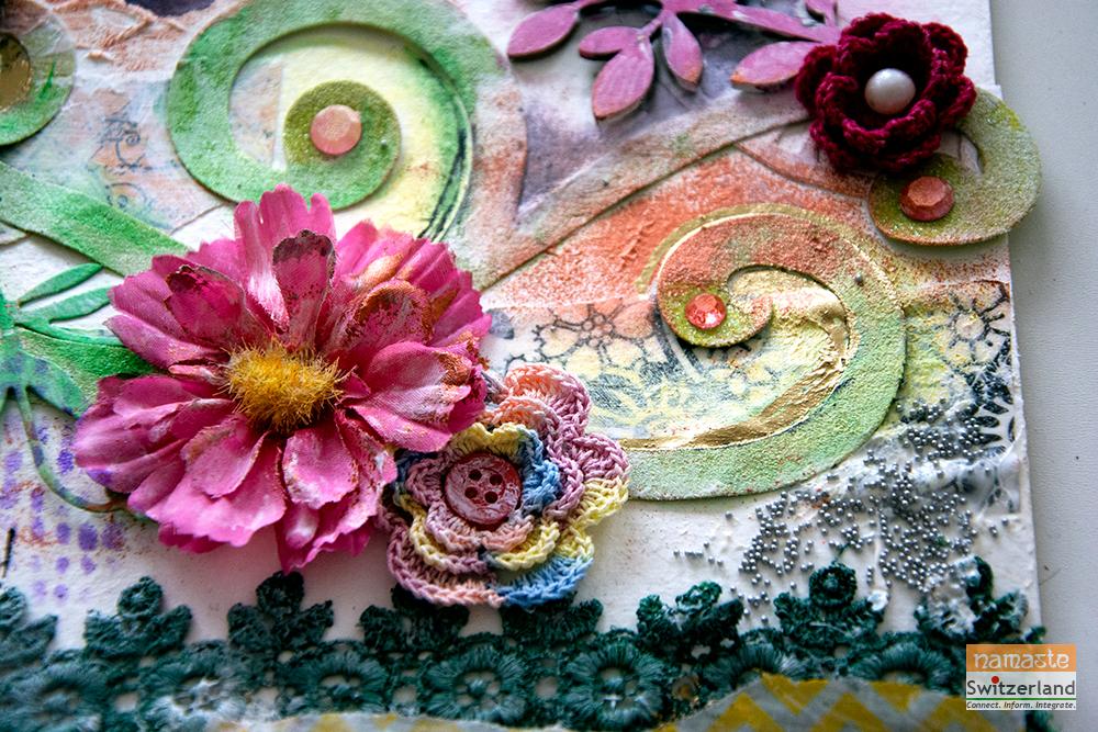 Photo of finished mixed media art