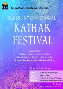 Swiss International Kathak Festival @ Kirchgemeinde Wettingen-Neuenhof