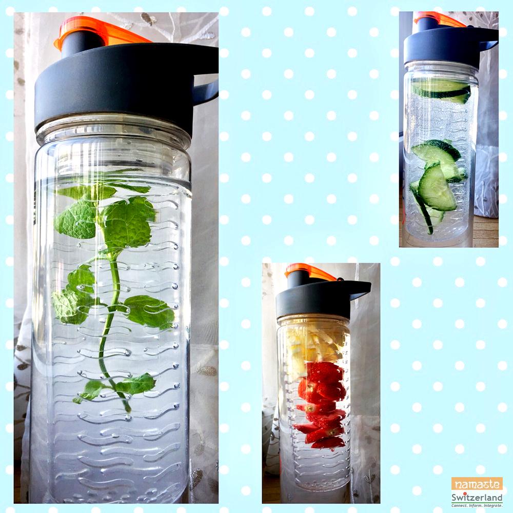 Detox water - mint, strawberry & lemon, cucumber