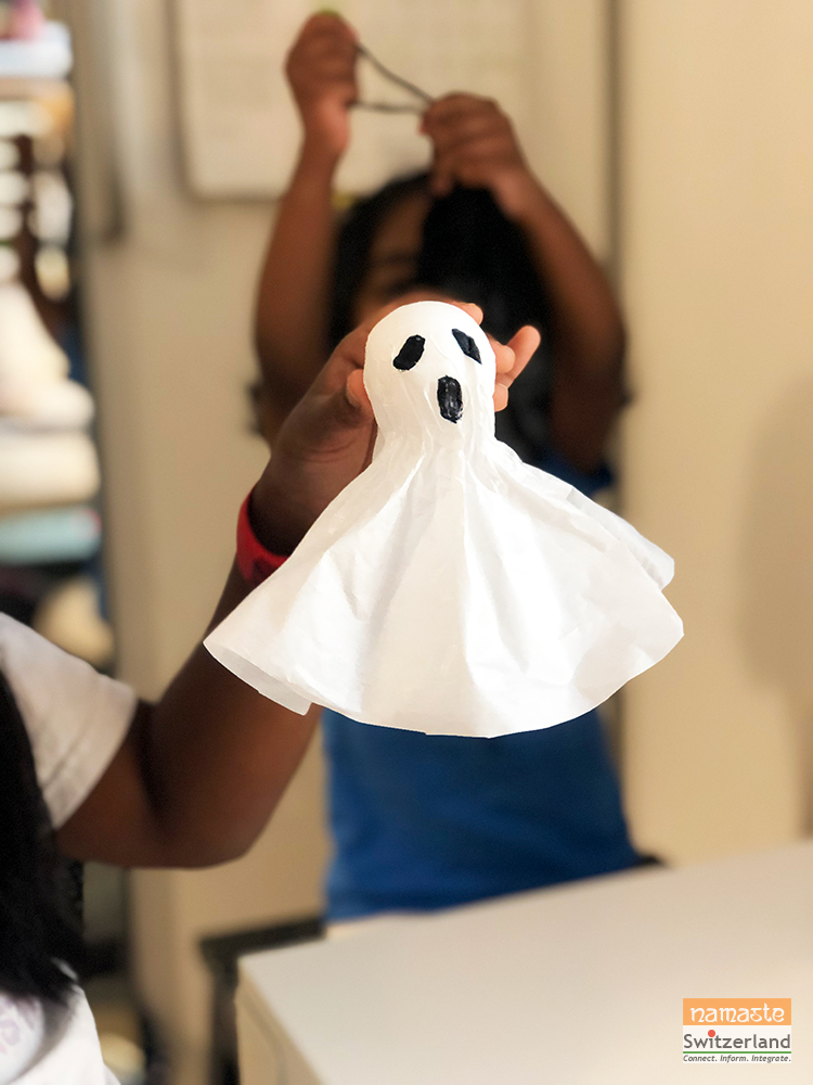 Photo of the finished spooky ghost