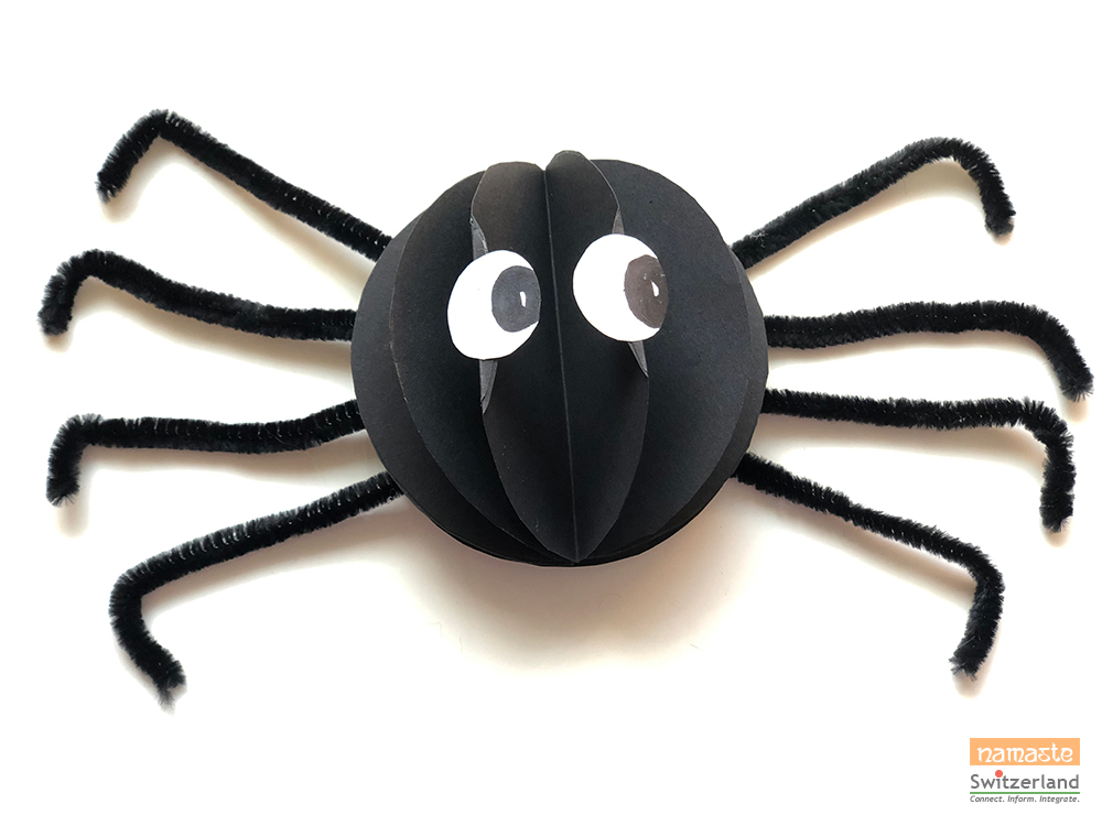 Photo of the finished scary spider
