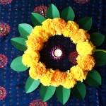 Make your own festive marigold wreath