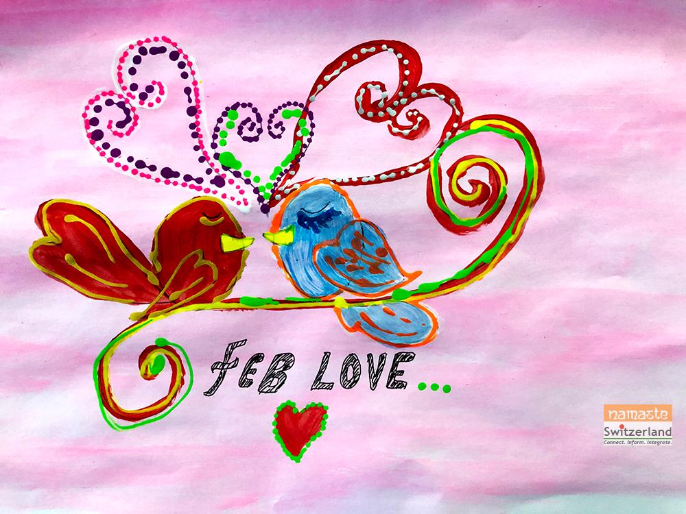 Illustration of Valentine's Day by Kirti Sharma