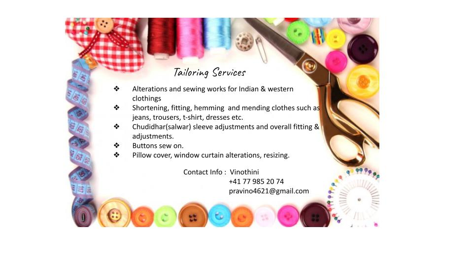 Tailoring services by Vinothini