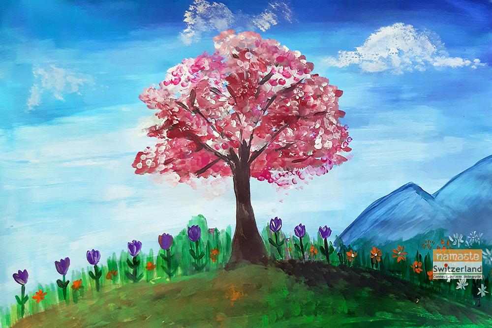Spring illustration by Kirti Sharma