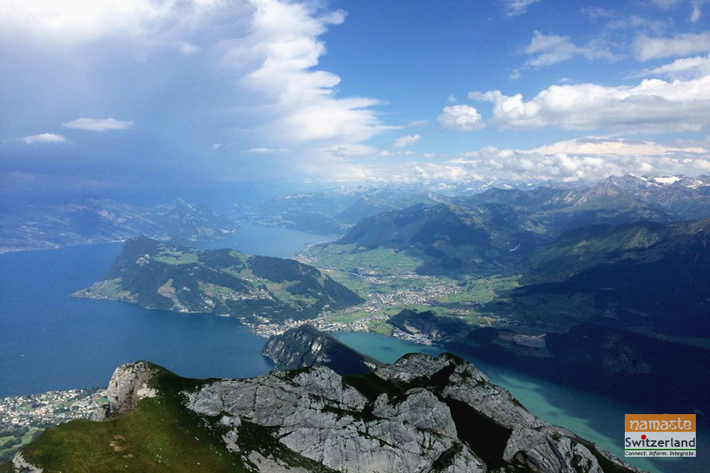 Image showing Lake Lucerne from Pilatus