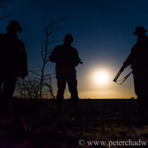 Anti-poaching patrol heading out at full moon, Phinda Private Game Reserve, Zululand, KwaZulu Natal, South Africa