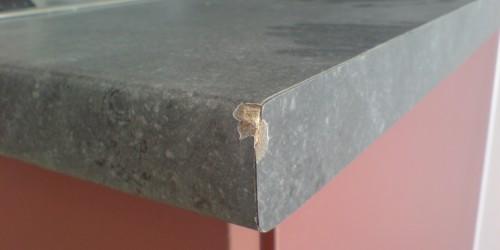chipped worktop repair