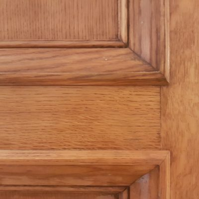 ANTIQUE OAK DOOR DAMAGE REPAIR REFURBISHMENT CHIP SCRATCH DENT BURN STRIPPING REPAIR FIXED