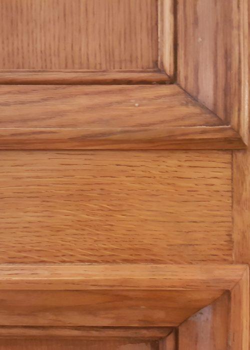 ANTIQUE OAK DOOR DAMAGE REPAIR REFURBISHMENT CHIP SCRATCH DENT BURN STRIPPING REPAIR FIXED